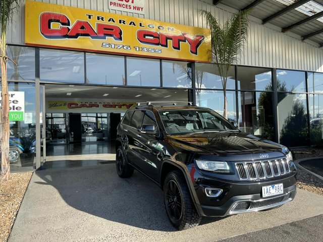 Used Jeep Grand Cherokee WK MY14 Limited (4x4) Traralgon, 2013 Jeep Grand Cherokee WK MY14 Limited (4x4) Black 8 Speed Automatic Wagon