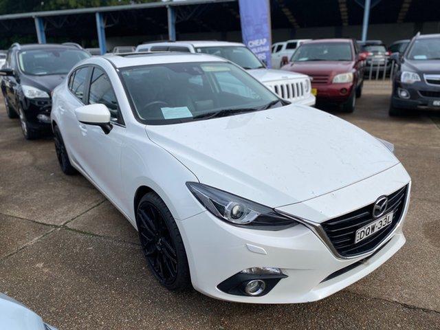 Used Mazda 3 BM5238 SP25 SKYACTIV-Drive GT Wickham, 2014 Mazda 3 BM5238 SP25 SKYACTIV-Drive GT White 6 Speed Sports Automatic Sedan