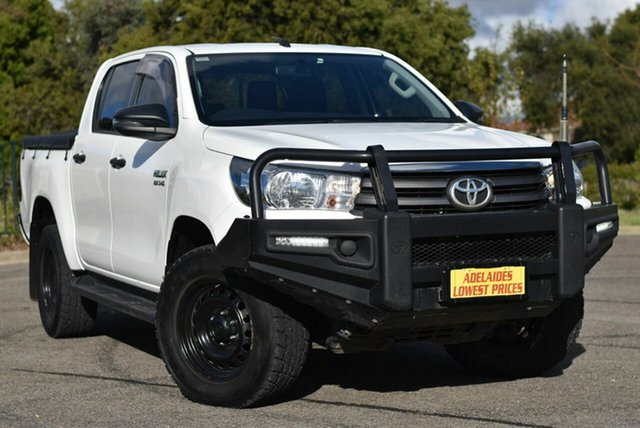 Used Toyota Hilux GUN126R SR Double Cab Enfield, 2018 Toyota Hilux GUN126R SR Double Cab White 6 Speed Sports Automatic Utility