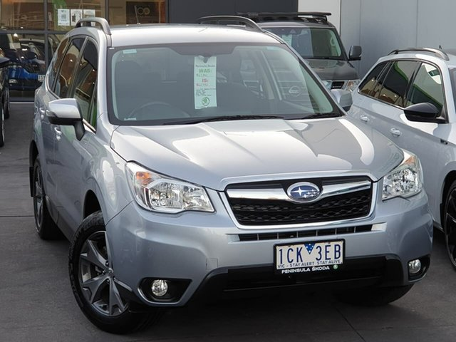 Used Subaru Forester S4 MY14 2.5i Lineartronic AWD Luxury Seaford, 2014 Subaru Forester S4 MY14 2.5i Lineartronic AWD Luxury Silver 6 Speed Constant Variable Wagon