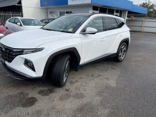2021 Hyundai Tucson NX4.V1 MY22 Highlander 2WD White Cream 6 Speed Automatic Wagon.