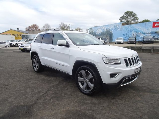 Used Jeep Grand Cherokee WK MY15 Limited Nowra, 2015 Jeep Grand Cherokee WK MY15 Limited White 8 Speed Automatic Wagon