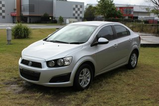 2014 Holden Barina TM MY14 CD Silver 5 Speed Manual Sedan.