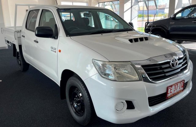 Used Toyota Hilux KUN16R MY12 SR Double Cab 4x2 Winnellie, 2013 Toyota Hilux KUN16R MY12 SR Double Cab 4x2 White 5 Speed Manual Utility