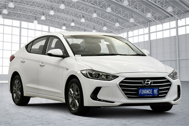 Used Hyundai Elantra AD MY17 Active Victoria Park, 2016 Hyundai Elantra AD MY17 Active White 6 Speed Sports Automatic Sedan