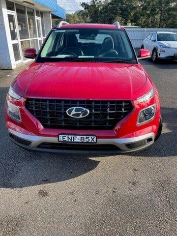 Demo Hyundai Venue QX.V3 MY21 Active North Gosford, 2020 Hyundai Venue QX.V3 MY21 Active Fiery Red 6 Speed Automatic Wagon