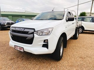 2020 Isuzu D-MAX RG MY21 SX White 6 Speed Sports Automatic Cab Chassis.
