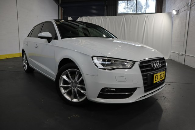 Used Audi A3 8V MY15 Attraction Sportback S Tronic Castle Hill, 2015 Audi A3 8V MY15 Attraction Sportback S Tronic White 7 Speed Sports Automatic Dual Clutch