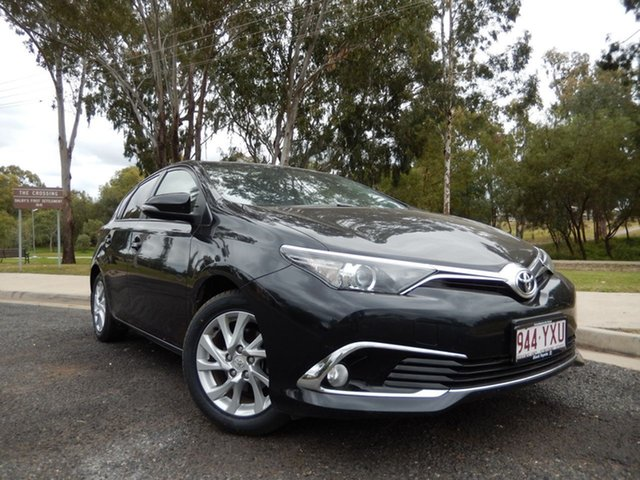 Pre-Owned Toyota Corolla ZRE182R MY17 Ascent Sport Dalby, 2017 Toyota Corolla ZRE182R MY17 Ascent Sport Ink 7 Speed CVT Auto Sequential Hatchback