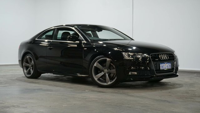 Used Audi A5 8T MY16 S Tronic Quattro Welshpool, 2015 Audi A5 8T MY16 S Tronic Quattro Black 7 Speed Sports Automatic Dual Clutch Coupe