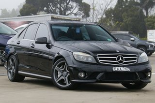 2010 Mercedes-Benz C-Class W204 C63 AMG Black 7 Speed Sports Automatic Sedan.