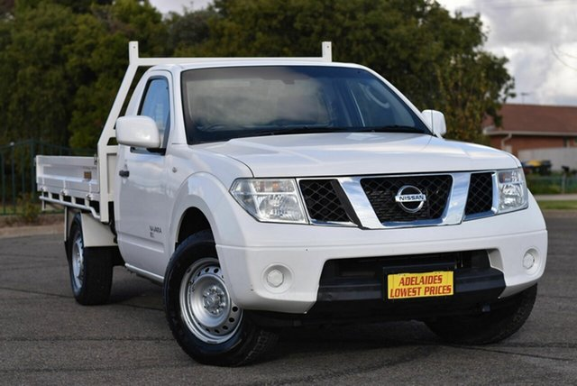 Used Nissan Navara D40 S7 MY12 RX Enfield, 2012 Nissan Navara D40 S7 MY12 RX White 6 Speed Manual Cab Chassis