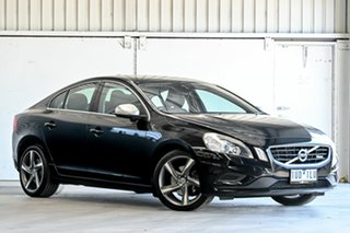 2011 Volvo S60 F Series MY12 T5 PwrShift R-Design Black 6 Speed Sports Automatic Dual Clutch Sedan.