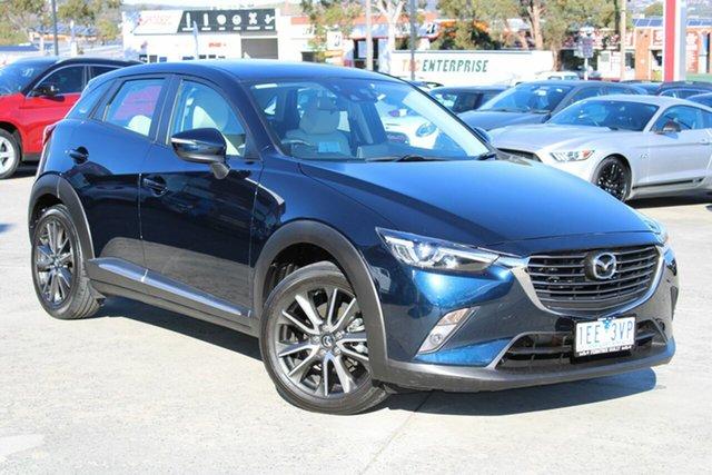 Used Mazda CX-3 DK2W7A Akari SKYACTIV-Drive Ferntree Gully, 2015 Mazda CX-3 DK2W7A Akari SKYACTIV-Drive Blue 6 Speed Sports Automatic Wagon