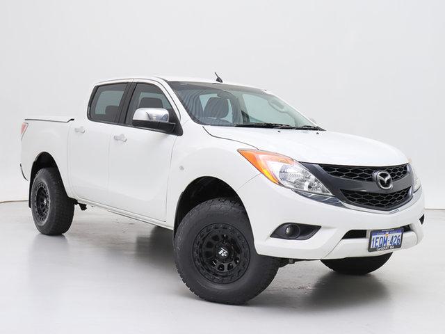 Used Mazda BT-50 MY13 XTR Hi-Rider (4x2), 2014 Mazda BT-50 MY13 XTR Hi-Rider (4x2) White 6 Speed Automatic Dual Cab Utility