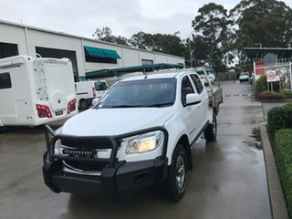 2016 Holden Colorado RG MY16 LS Crew Cab Summit White 6 speed Automatic Cab Chassis.