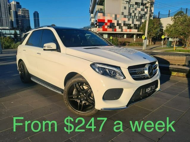 Used Mercedes-Benz GLE-Class W166 808MY GLE350 d 9G-Tronic 4MATIC South Melbourne, 2017 Mercedes-Benz GLE-Class W166 808MY GLE350 d 9G-Tronic 4MATIC White 9 Speed Sports Automatic