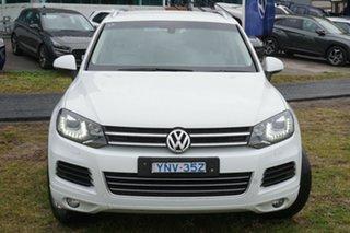 2012 Volkswagen Touareg 7P MY12.5 150TDI Tiptronic 4MOTION White 8 Speed Sports Automatic Wagon.