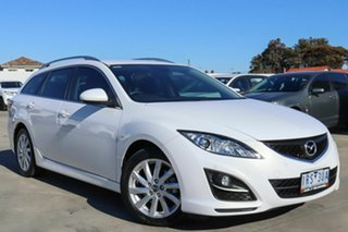 2012 Mazda 6 GH1052 MY12 Touring White 5 Speed Sports Automatic Wagon