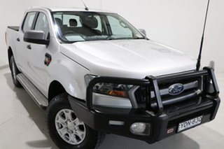 2017 Ford Ranger PX MkII XLS Double Cab Silver 6 Speed Manual Utility.