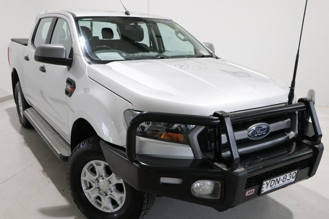 Used Ford Ranger PX MkII XLS Double Cab Wagga Wagga, 2017 Ford Ranger PX MkII XLS Double Cab Silver 6 Speed Manual Utility