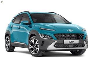2021 Hyundai Kona Os.v4 MY21 Highlander 2WD Blue 8 Speed Constant Variable Wagon
