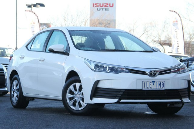 Used Toyota Corolla ZRE172R Ascent S-CVT Essendon North, 2017 Toyota Corolla ZRE172R Ascent S-CVT White 7 Speed Constant Variable Sedan