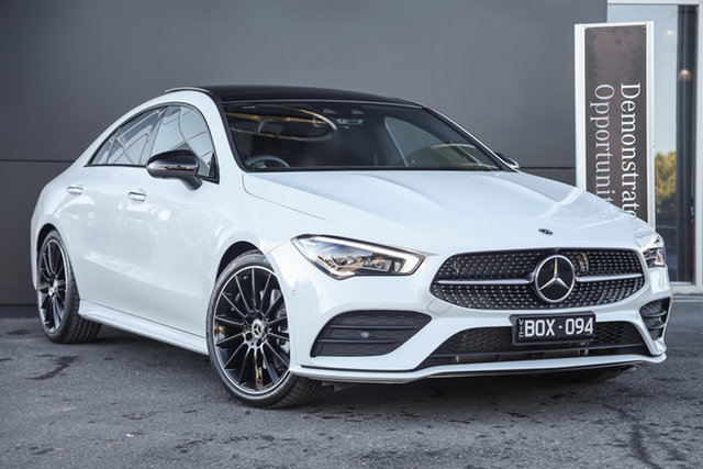 Demonstrator Mercedes-Benz CLA-Class C118 801+051MY CLA250 D-CT 4MATIC Mulgrave, 2021 Mercedes-Benz CLA-Class C118 801+051MY CLA250 D-CT 4MATIC Digital White 7 Speed