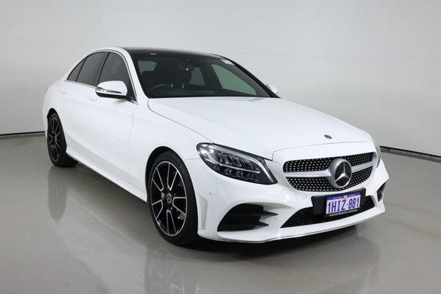 Used Mercedes-Benz C200 W205 MY20 Bentley, 2019 Mercedes-Benz C200 W205 MY20 White 9 Speed Automatic G-Tronic Sedan