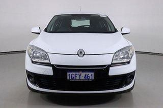 2013 Renault Megane X32 Dynamique White 6 Speed Manual Hatchback.