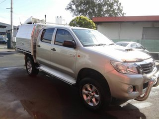 2014 Toyota Hilux KUN26R MY12 SR (4x4) Silver 4 Speed Automatic Cab Chassis.
