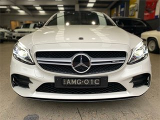 2021 Mercedes-Benz C-Class C205 C43 AMG White Sports Automatic Coupe.
