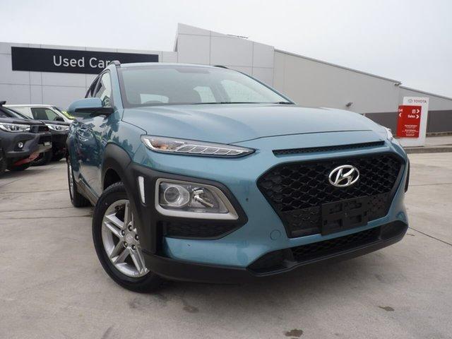 Pre-Owned Hyundai Kona OS MY18 Active 2WD Blacktown, 2018 Hyundai Kona OS MY18 Active 2WD Ceramic Blue 6 Speed Sports Automatic Wagon