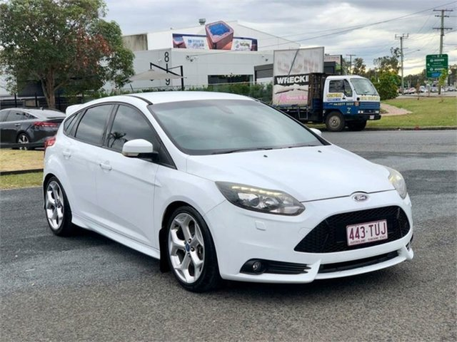 Used Ford Focus LW MkII ST Archerfield, 2014 Ford Focus LW MkII ST White 6 Speed Manual Hatchback