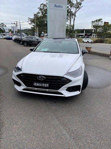 Demo Hyundai Sonata DN8.V1 MY21 N Line DCT North Gosford, 2021 Hyundai Sonata DN8.V1 MY21 N Line DCT White Cream 8 Speed Sports Automatic Dual Clutch Sedan