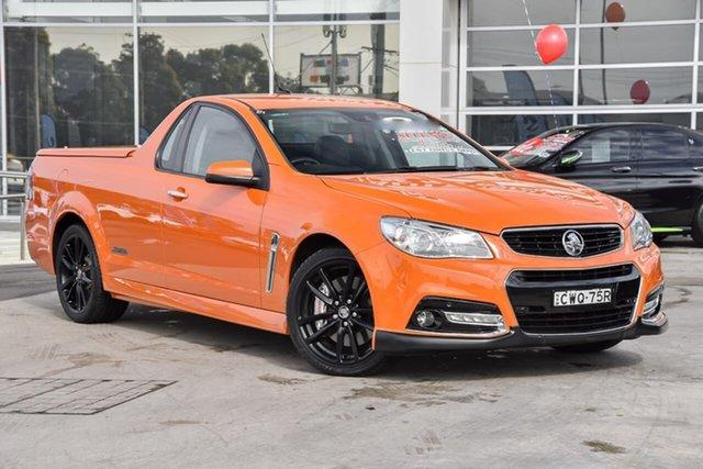Used Holden Ute VF MY14 SS V Ute Redline Liverpool, 2014 Holden Ute VF MY14 SS V Ute Redline Fantale Orange 6 Speed Sports Automatic Utility