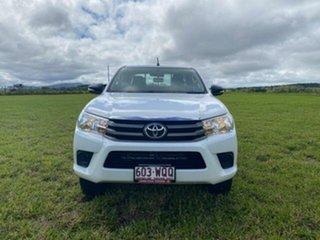 2016 Toyota Hilux GUN126R SR (4x4) Glacier White 6 Speed Manual Dual Cab Utility
