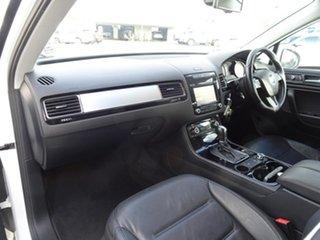 2012 Volkswagen Touareg 7P MY12.5 150TDI Tiptronic 4MOTION Pure White 8 Speed Automatic Wagon