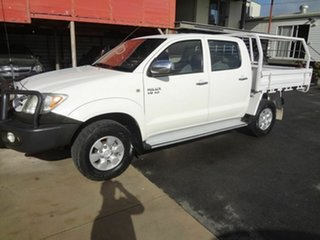 2008 Toyota Hilux GGN25R 07 Upgra SR5 (4x4) White 5 Speed Manual Dual Cab Pick Up.