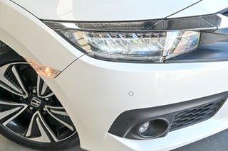 2016 Honda Civic 10th Gen MY16 VTi-LX White 1 Speed Constant Variable Sedan.