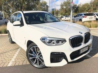 2020 BMW X3 G01 xDrive30i Steptronic M Sport White 8 Speed Sports Automatic Wagon.