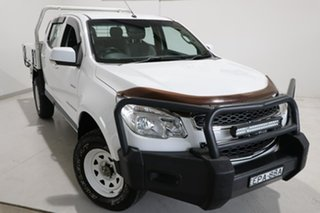 2013 Holden Colorado RG MY14 LX Crew Cab White 6 Speed Sports Automatic Cab Chassis.