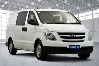 2012 Hyundai iLOAD TQ-V MY12 Crew Cab White 5 Speed Manual Van.