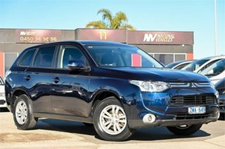 2013 Mitsubishi Outlander ZJ MY13 LS 2WD Blue 6 Speed Constant Variable Wagon.