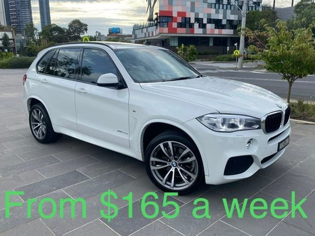 Used BMW X5 F15 xDrive25d South Melbourne, 2014 BMW X5 F15 xDrive25d White 8 Speed Automatic Wagon