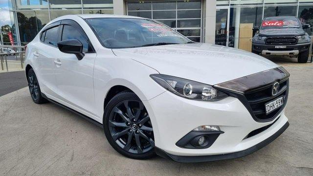 Used Mazda 3 BM5238 SP25 SKYACTIV-Drive Liverpool, 2016 Mazda 3 BM5238 SP25 SKYACTIV-Drive Snowflake White 6 Speed Sports Automatic Sedan