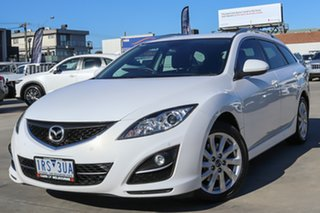 2012 Mazda 6 GH1052 MY12 Touring White 5 Speed Sports Automatic Wagon.