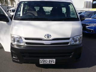 2012 Toyota HiAce KDH223R MY11 Commuter High Roof Super LWB White 4 Speed Automatic Bus