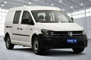 2017 Volkswagen Caddy 2KN MY18 TSI220 Crewvan Maxi DSG White 7 Speed Sports Automatic Dual Clutch.