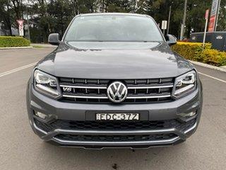 2019 Volkswagen Amarok 2H MY19 TDI580 4MOTION Perm Highline Black Grey 8 Speed Automatic Utility.